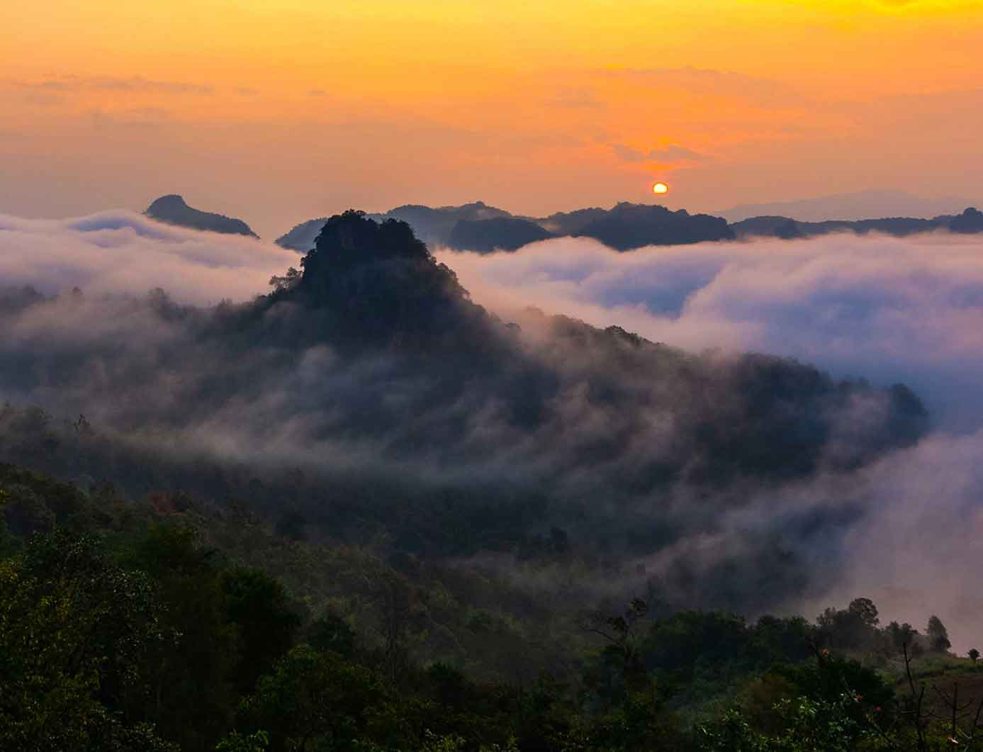 Mountain Range Thailand