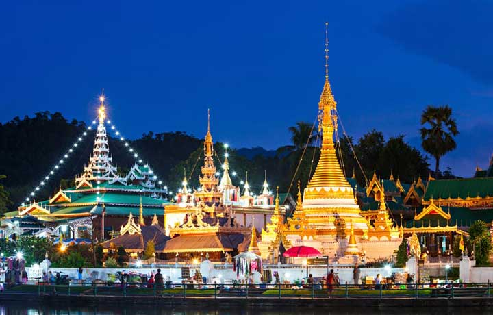 Mae Hong Son Temple in Thailand