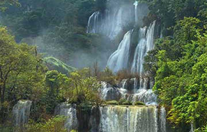 Largest waterfall in Thailand